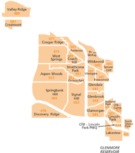 Calgary Quadrant Map West